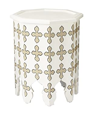 GuildMaster Weiss Side Table, White/Taupe