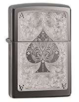 Zippo Black Ice Lighter, 28323 (Black)