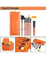 Professional red 7 pcs Makeup brush Tools make up brushes Cosmetic Brushes (ORANGE)