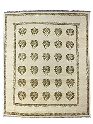 Bashian Rugs Hand Knotted One-of-a-Kind Mansehra Rug, Ivory, 8' x 10'