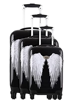 American Revival Set 3 Trolleys 4 Ruedas Wings (Negro)