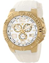 Swiss Legend Men's 40118-YG-02 Super Shield Chronograph White Dial Watch