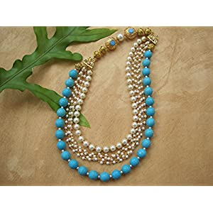Dreamz Jewels Multi String Turquoise Necklace