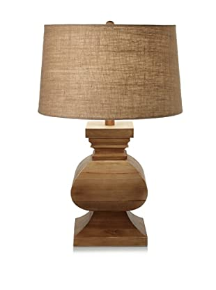 Lighting Accents Solid Wood Square Table Lamp