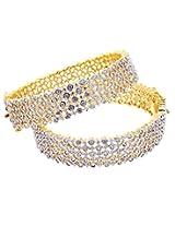 Aabhushan Jewels Gold Plated American Diamond Bangles For Women