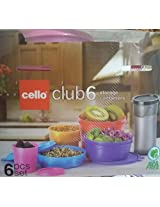 cello club set of 6 pc color may vary