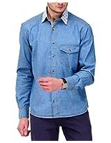 Yepme Men's Denim Blue Cotton Shirt- YPMSHRT0524_42