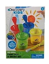 Discovery Kids No Spill Paint Pot & Brush Set