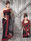 Black Net Saree : Ws5076
