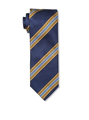Massimo Bizzocchi Men's Textured Stripe Tie, Navy