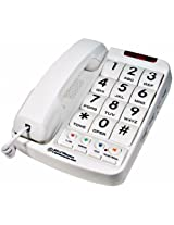 Nw Bell 20200 White Corded Big Button Plus Phone