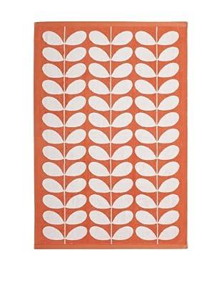 Orla Kiely Stem Jacquard Bath Towel, Clementine