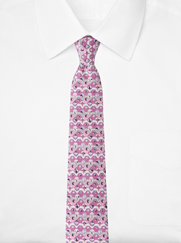 Emilio Pucci Men's Geometric Circle Tie, Blue/Purple
