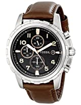 Fossil Chronograph Black Dial Men's Watch - FS4828