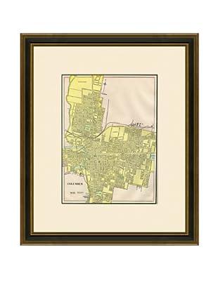 Antique Lithographic Map of Columbus, 1883-1903
