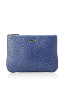 Rebecca Minkoff Women's Erin Embossed Snake Wallet (Blue)