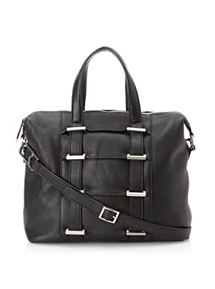 Allibelle Women's Tunnel Satchel (Black)