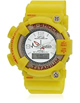 Fs202-Yl01 Yellow/Yellow Analog & Digital Watch