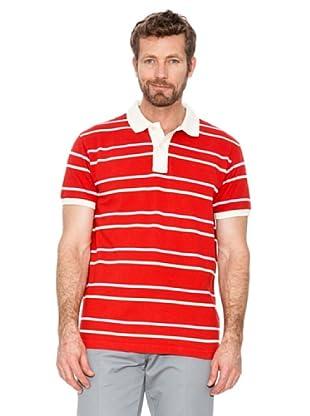 Cortefiel Polo Rayas (Rojo)