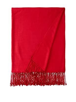 Nine Space Viscose from Bamboo Solid Throw Blanket (Cranberry)