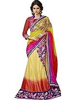 Sapphire Fashions Women's Multicoloured Brasso Saree