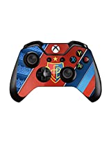 Sports Teams And Stars Pair Of Vinyl Decal Controller Sticker Skins For Xbox One (Football Soccer Red And Blue With Shield)