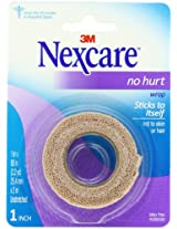 Nexcare No Hurt Wrap Tan 1 Inches X 2.2 Yards Un-Stretched, 0.108 Pound