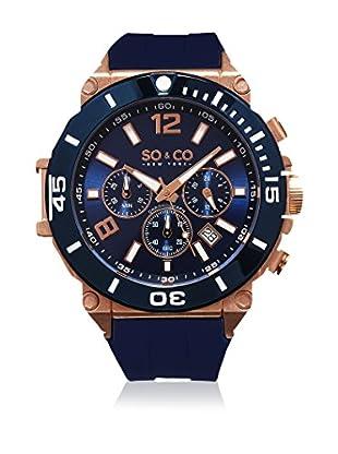 SO & CO New York Uhr mit japanischem Quarzuhrwerk Man dunkelblau 50 mm