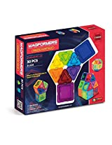 Magformers Standard Rainbow Clear Solid Set (30-pieces)