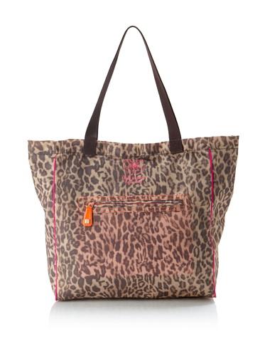 Felix Rey Women's Nylon Tote, Leopard