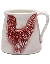 Appletree Design A Day in the Country Rooster Mug, 4 by 3.4-Inch, Set of 2