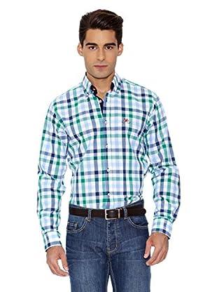 La Española Camisa Fitted Check (Verde / Azul)