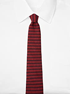 Hermès Men's Shapes Tie, Red/Blue, One Size