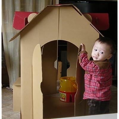 森井紙器工業(MORIISHIKI)の 段ボール簡単工作シリーズ すまいるキッズハウス です。