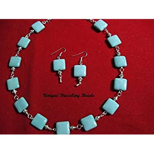 Unique Dazzling Beads Blue Jade Magic