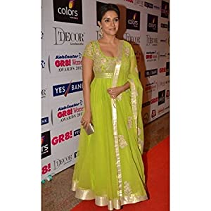Lifestylemegamart BWDF-24 Replica Asin Green Anarkali Suit