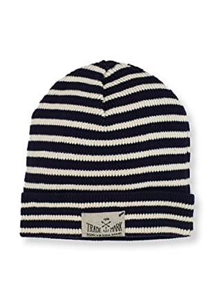 Scotch & Soda Men's Knit Stripe Beanie (Navy/Off-White)