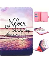 ipad mini 4 Case,PU Leather Smart Case [Card Solt/Stand Function] ipad mini 4 Cute Flower Pattern Flip Magnetic Cover Colorful Leather Case For Apple ipad mini 4 (Never)