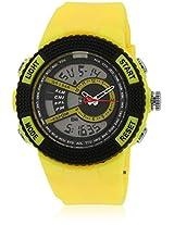 Fs205-Yl01 Yellow/Black Analog & Digital Watch