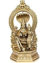 Bhagwan Vishnu with Lakshmi Ji - Brass Statue