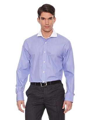 Hackett Camisa Micro-Cuadros (Azul / Blanco)