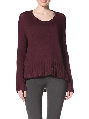 Acrobat Women's High-Low Pullover (Merlot)