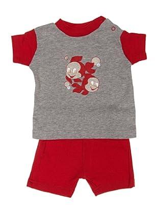 F.S. Baby Conjunto Dos Piezas Camiseta Y Pantalón Corto (Gris)