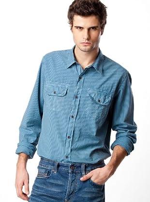 Timberland Camisa Rayas (Turquesa / Negro)