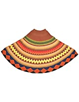 The Knit Factory Women's Acrylic Woolen Poncho (4001d_Multi-Colour)