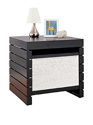 Neu Home Devine Side Table with Basket, Black
