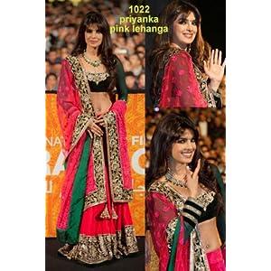 LifestyleMegamart BWSL103 Priyanka Chopra Lehenga - Pink