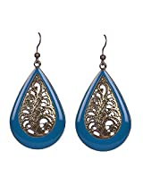 Saadi Gali Enamel Dangle & Drop Earring For Women ( Blue )