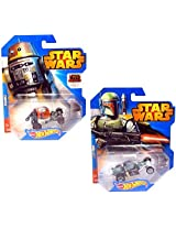 Star Wars Hot Wheels Car Set - Boba Fett and Chopper