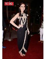 Bollywood Replica Elina Black Color Party Wedding Wear Saree